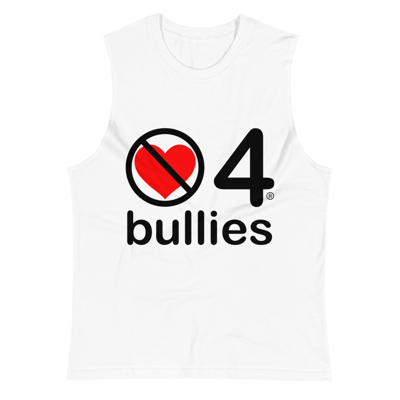 no love 4 bullies - White Muscle Shirt