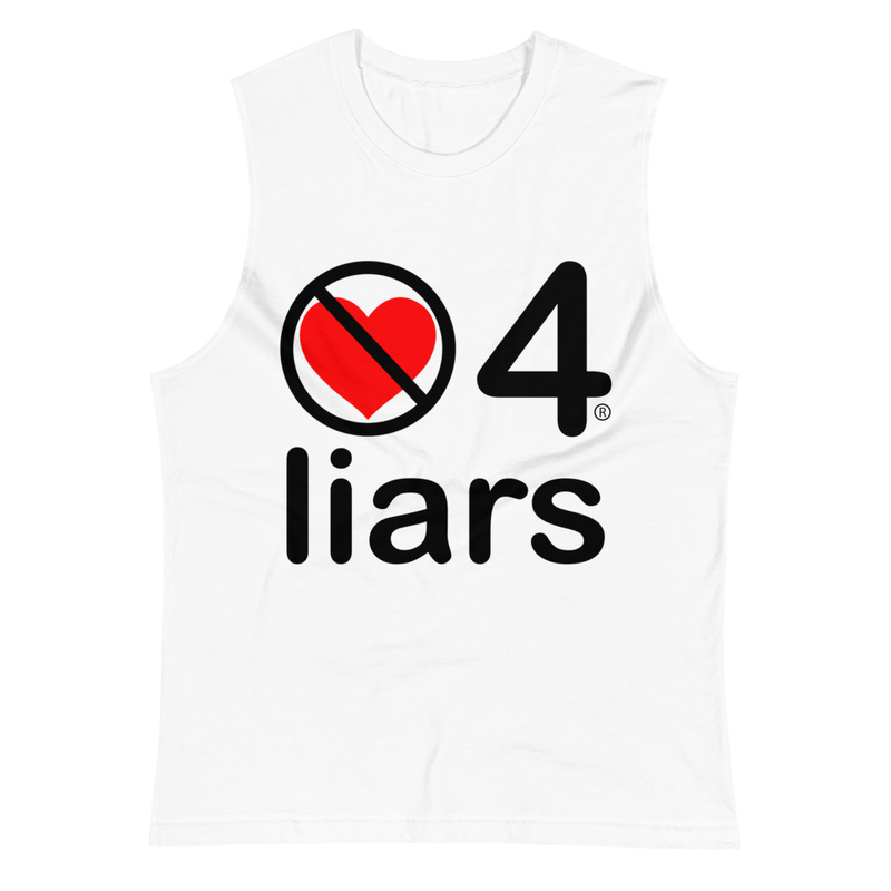 no love 4 liars - White Muscle Shirt