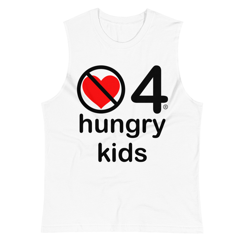 no love 4 hungry kids - White Muscle Shirt