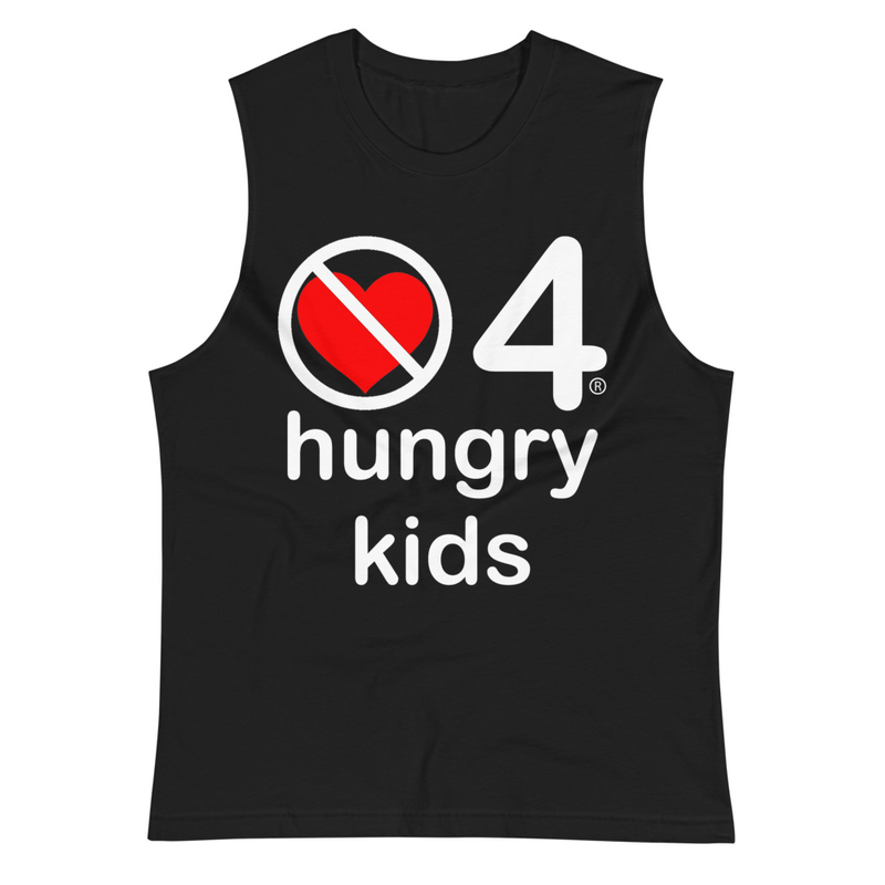 no love 4 hungry kids - Black Muscle Shirt