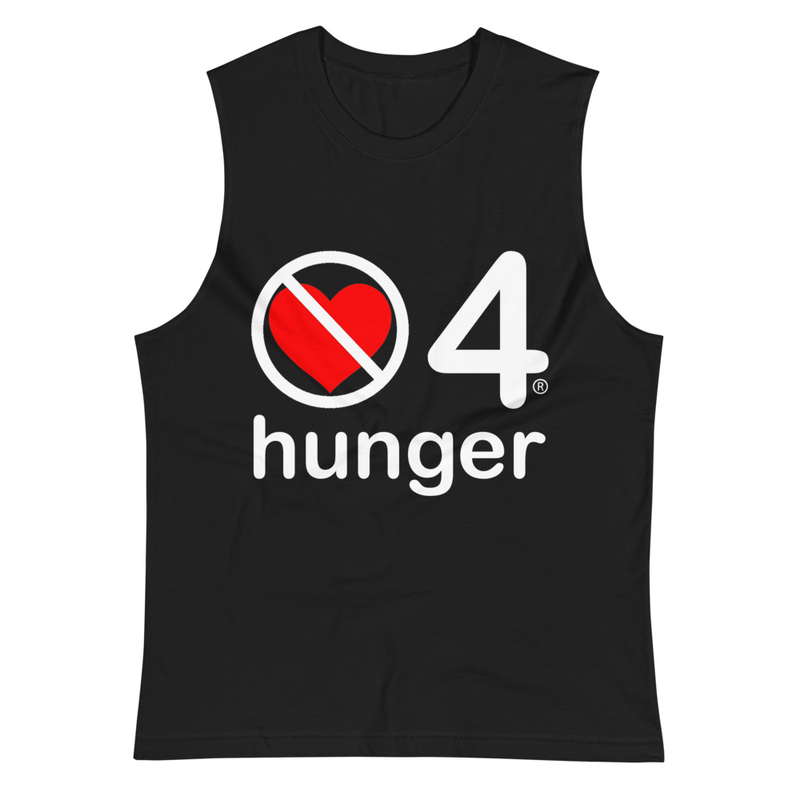 no love 4 hunger - Black Muscle Shirt