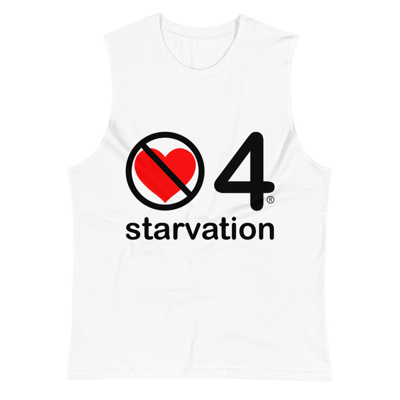no love 4 starvation - White Muscle Shirt