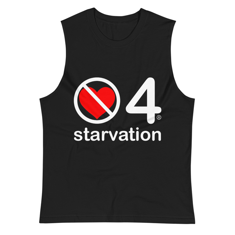 no love 4 starvation - Black Muscle Shirt