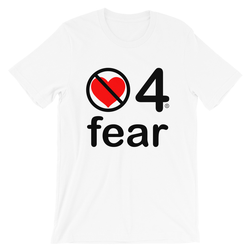 no love 4 fear - White Short-Sleeve Unisex T-Shirt