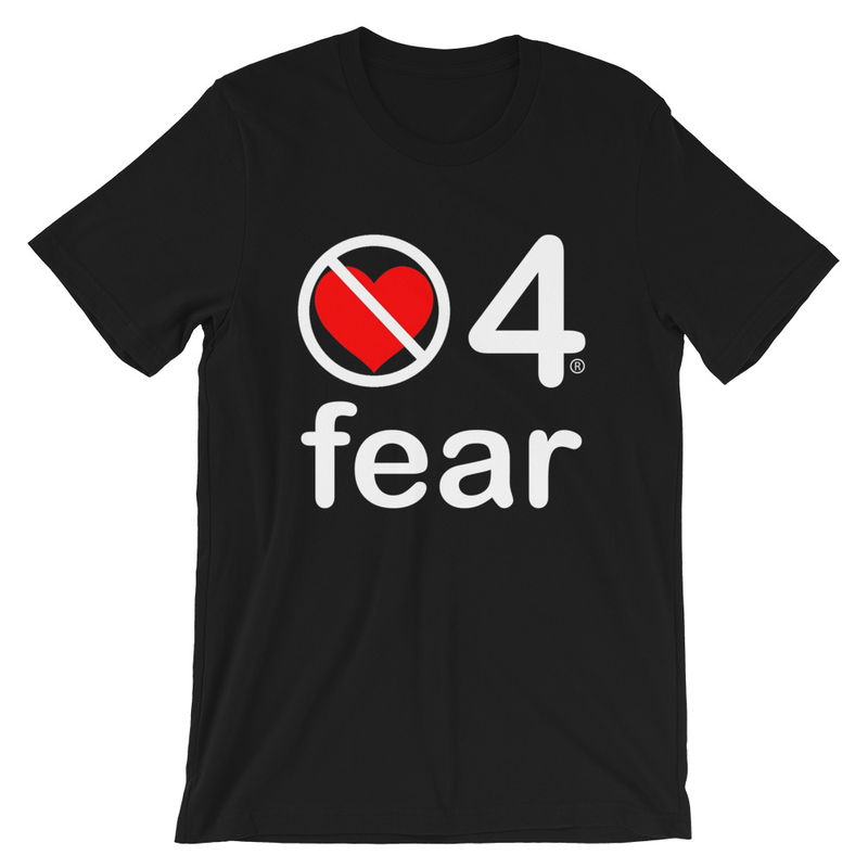 no love 4 fear - Black Short-Sleeve Unisex T-Shirt