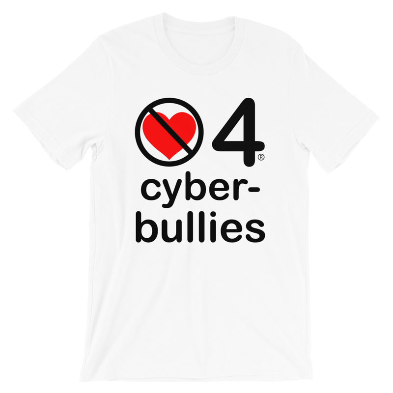 no love 4 cyberbullies - White Short-Sleeve Unisex T-Shirt