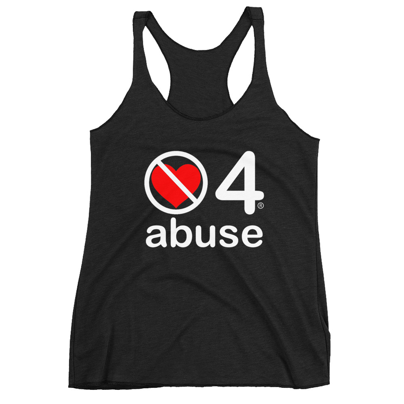 no love 4 abuse - Black Women's Racerback Tank