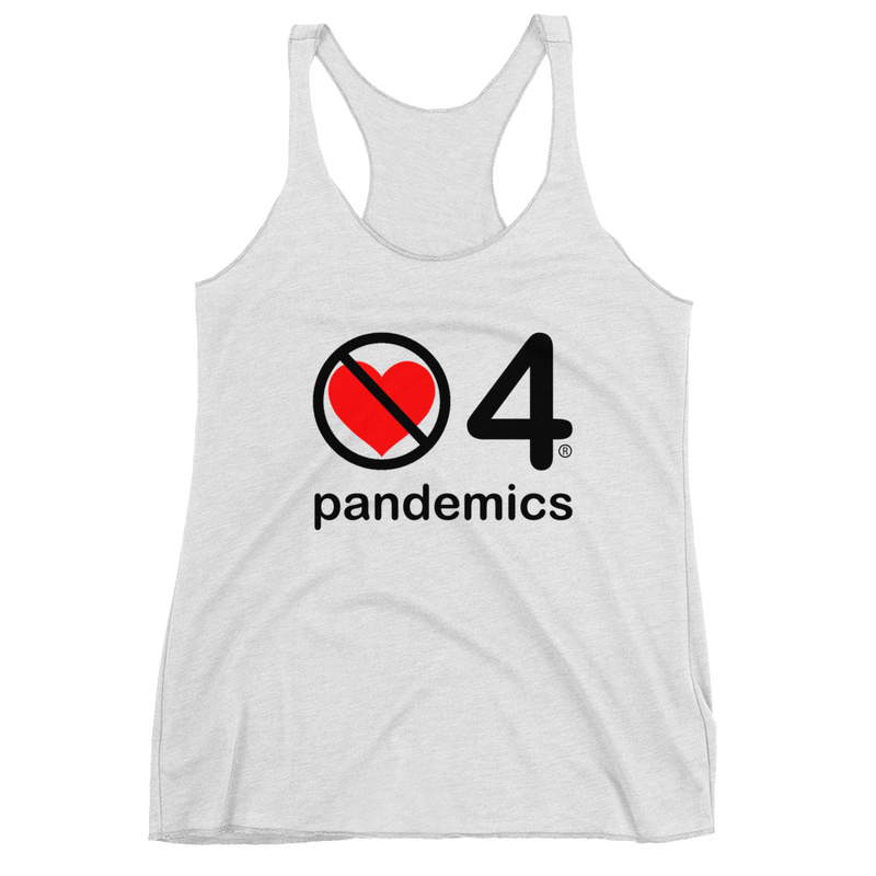 no love 4 pandemics - Heather White Women's Racerback Tank