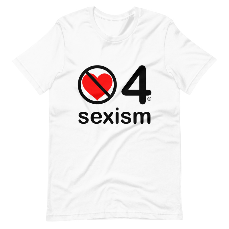no love 4 sexism - White Short-Sleeve Unisex T-Shirt