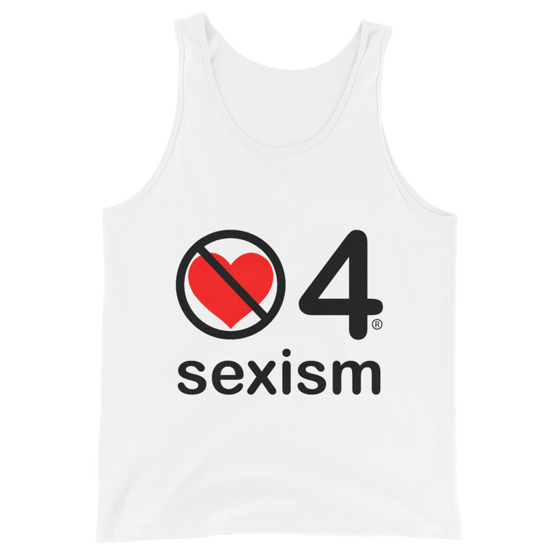 no love 4 sexism - White Unisex Tank Top