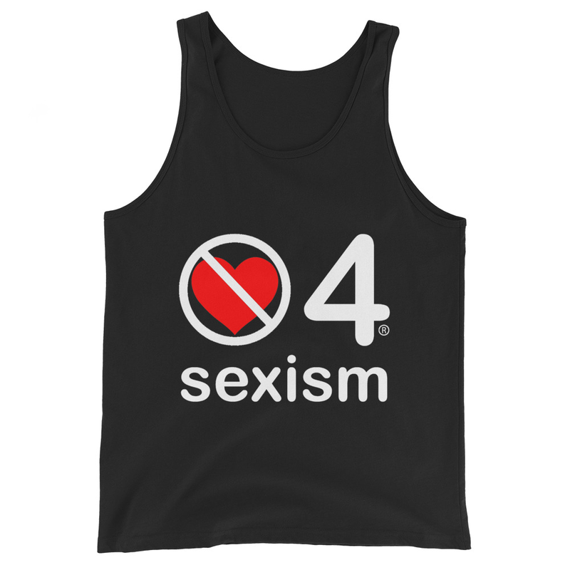 no love 4 sexism - Black Unisex Tank Top