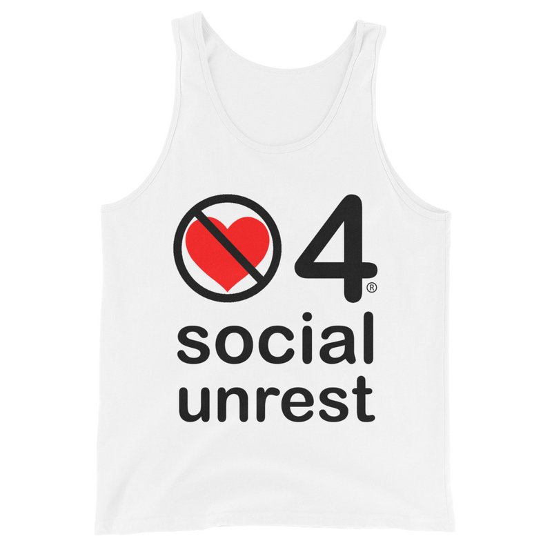no love 4 social unrest - White Unisex Tank Top