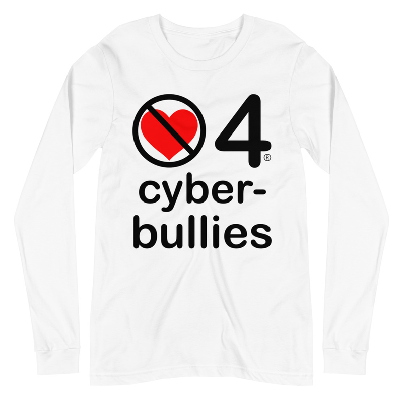 no love 4 cyber bullies - White Unisex Long Sleeve Tee