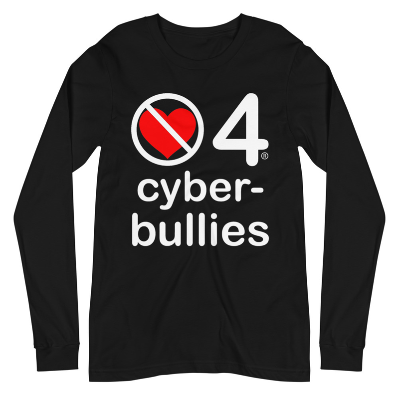 no love 4 cyber bullies - Black Unisex Long Sleeve Tee