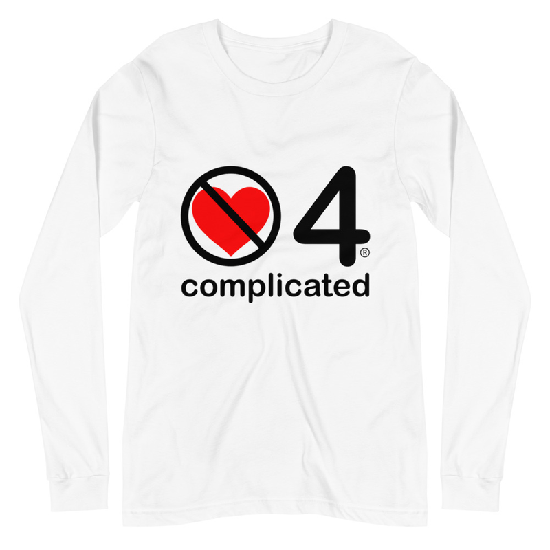 no love 4 complicated - White Unisex Long Sleeve Tee