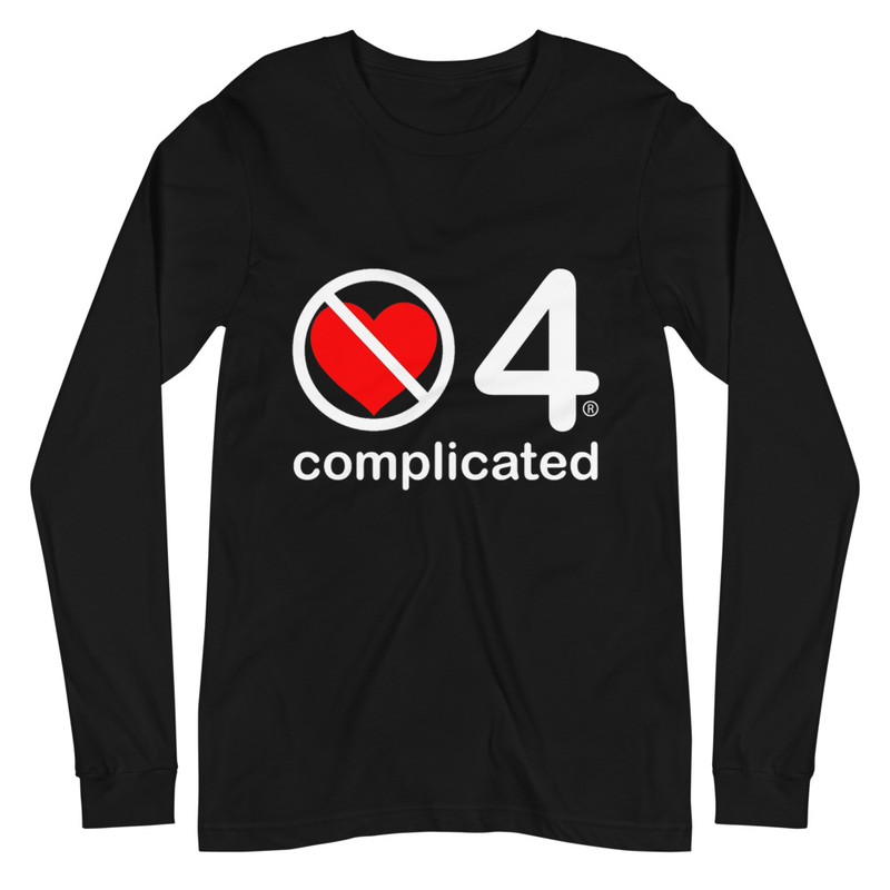 no love 4 complicated - Black Unisex Long Sleeve Tee