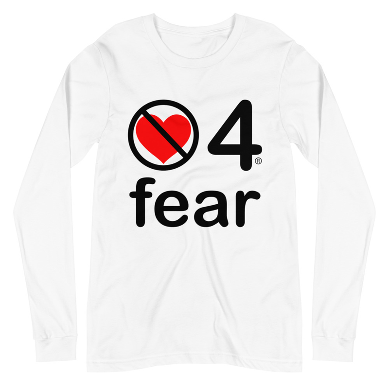 no love 4 fear - White Unisex Long Sleeve Tee