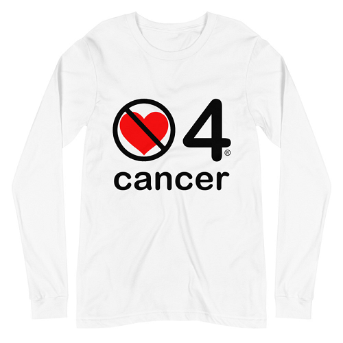 no love 4 cancer - White Unisex Long Sleeve Tee