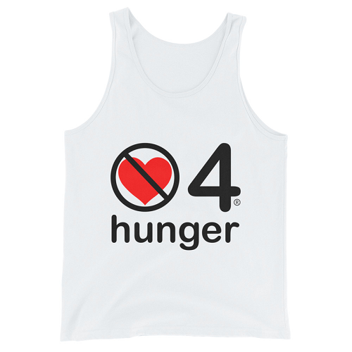 no love 4 hunger - White Unisex Tank Top